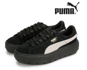 huge discount b2c75 a4e79 Details about Puma Suede Platform Trace 367259-01 Black, Sports Shoes  Unisex Athletic Sneakers