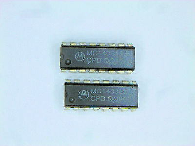 "MC14538B  /""Original/"" Motorola  16P DIP CMOS IC  2  pcs"