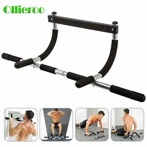 Ollieroo Heavy Duty Chin Pull Up Bar Mounted Doorway Home Gym Fitness Workout