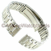 18mm Silver Tone Morellato Straight End Stainless Steel Clasp Watch Band