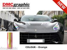 2xA4 Chameleon Orange Car Motorbike Headlight Rear light Adhesive Tint Film PVC