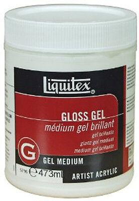 Liquitex Artists Acrylic GLOSS GEL MEDIUM 473ml. Artists Acrylic Painting Medium