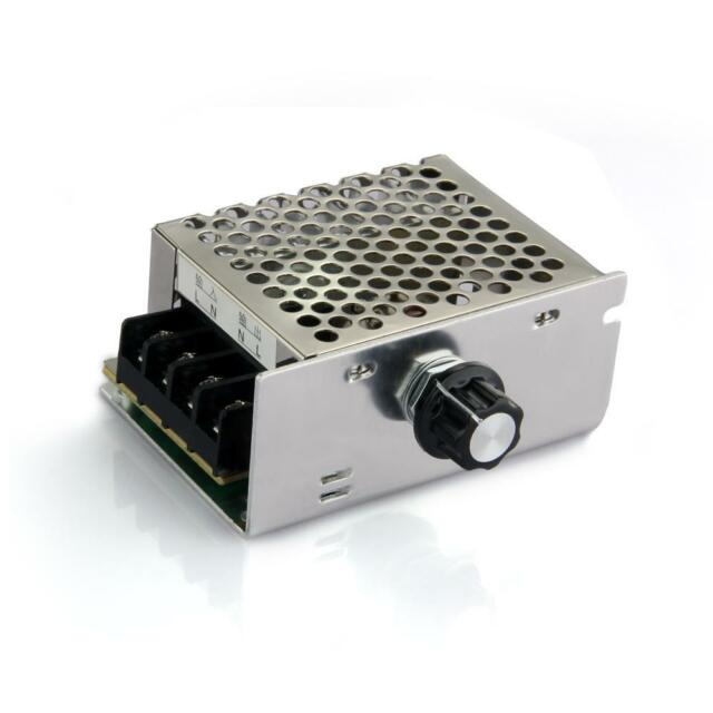 4000W High Power SCR Electronic Volt Regulator Speed Controller AC 220V + Shell