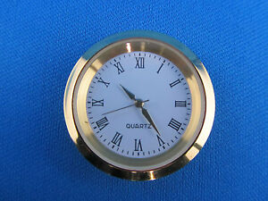Einsteckuhr-Einbauuhr-Uhr-Quarzuhr-Goldoptik