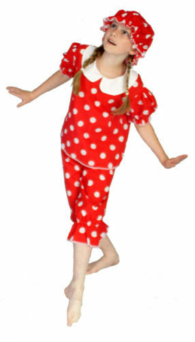 VICTORIAN Red /& White Spot Girls BATHING BELLE FANCY DRESS COSTUME All Ages