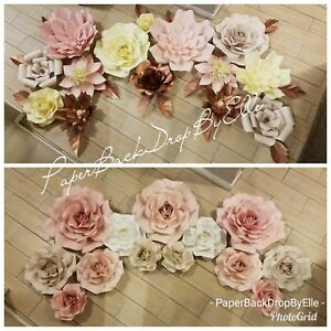 Super Sale 8 Handmade Beautiful Paper Flowersbackdrop Wall