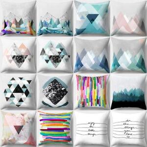 Geometrique-Peach-skin-Oreiller-Taile-Housse-de-Coussin-Divan-Cushion-Cover