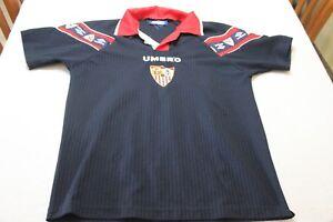 c8b0046a29d7e CAMISETA FUTBOL OFICIAL SEVILLA FC MARCA UMBRO TALLA XS VINTAGE COTIZADA  SHIRT - España - CAMISETA