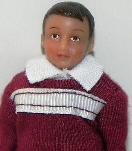 Dollhouse Miniature Doll Boy Brother Hispanic Andy Vinyl SD0016 1:12