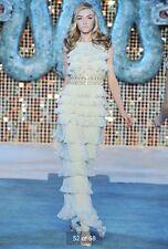 Dior Resort 2009 Blue Tiered Silk Gown 40 8 $15,000