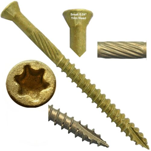 Bronze Star TRIM HEAD WOOD SCREWS: 1lb. TORX 5lb. and BULK Wood BTX Screws