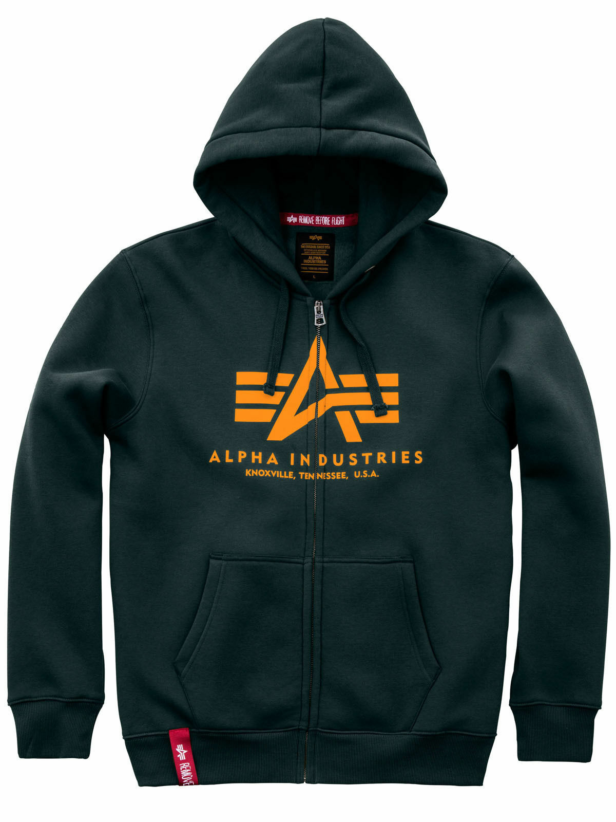 Alpha Industries Kapuzenjacke Basic Zip Hoody Dark Petrol 178325 353  6118