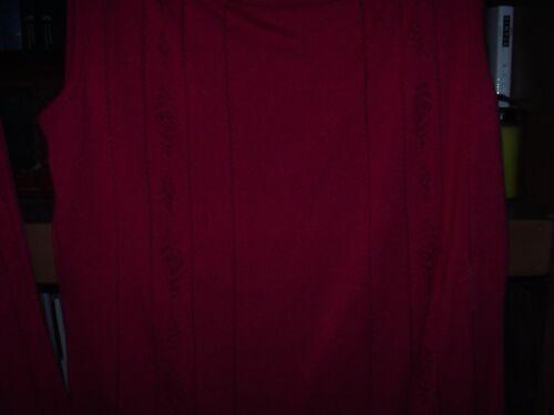 De Maille Débardeur Et Taille Nwot En Escada Framboise 14 Gilet 8 X4wxYq