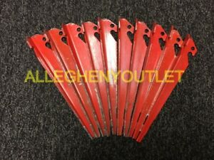 """USMC ORIGINAL Shelter Half Pup Tent Stakes  9/"""" inch aluminum Lot of 10 US ARMY"""