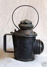 Belle lampe de cheminot à 3 couleurs, grosse loupe, Belgique XIX