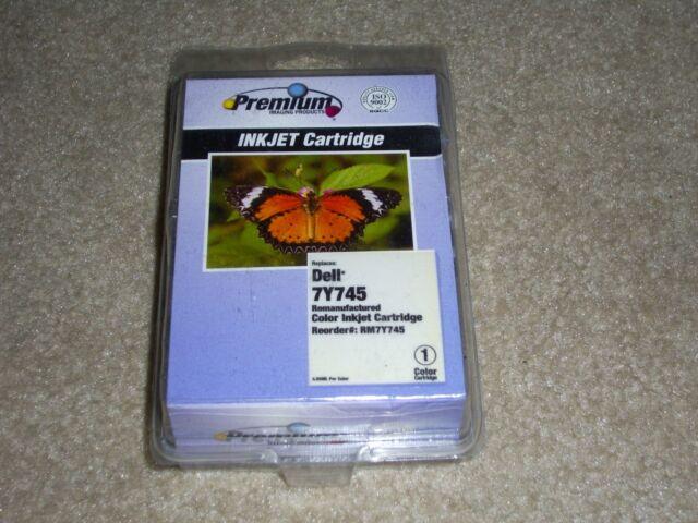 DELL 7Y745 PREMIUM Compatible Ink Cartridge, COLOR, unopened