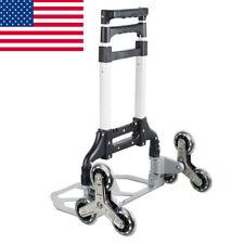 Portable Stair Climbing Cart Folding Trolley Stair Climber Hand Truck Safety