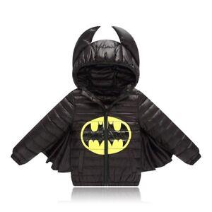 205f38606 BATMAN THICK WINTER COAT JACKET SET OUTFIT UK WINTER BOYS KIDS ...