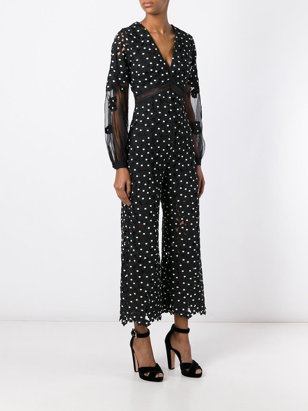 Self Portrait Lace Daisy Dot Jumpsuit Romper Dress Brand New BNWT IT 38