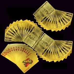 Luxury-24K-Gold-Foil-Poker-Playing-Cards-Waterproof-Plastic-Set-Gift