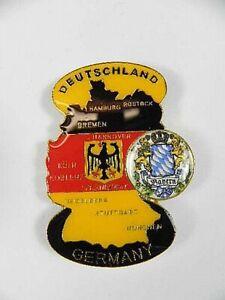 Bayern-Bavaria-Magnet-Metall-Deutschland-Landkarte-Souvenir-Germany