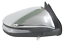 NEW DOOR MIRROR ELECTRIC CHROME INDICATOR for TOYOTA HILUX REVO 7//2015 ON RIGHT
