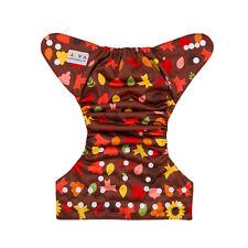 ALVABABY Thanksgiving  reusable washable adjustable pocket diaper  + 1 insert