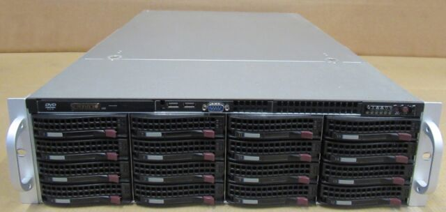 Supermicro 3u Cse-836 Server Chassis With 2x PSU Rails