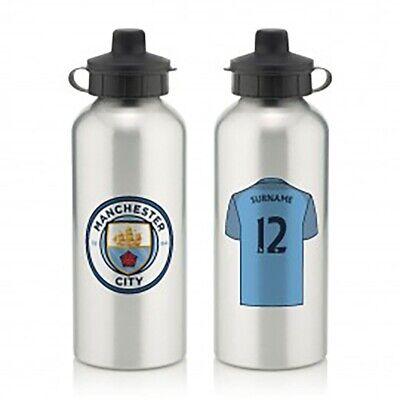 Begeistert Manchester City F.c - Personalised Aluminium Water Bottle (shirt)