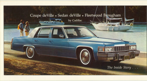 1977 Cadillac Brochure Coupe-Sedan DeVille//Fleetwood