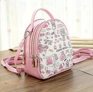 Girls-Cute-Hello-Kitty-Backpack-Shoulder-Crossbody-Bag-Tote-Handbag-Waterproof
