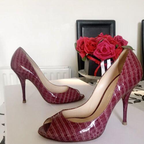 38 Us Leather High Burgundy Shoe Python Casadei Heels Pumps 8 Eu Snakeskin 5uk wXzwx7p