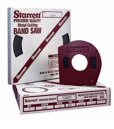 """154/"""" 12/' 10/"""" x 1/"""" x 3//4T M42T Starrett Band Saw Blade"""