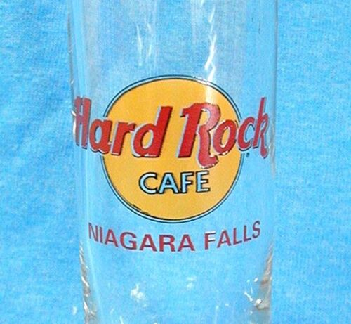 Tall HARD ROCK CAFE Shot Glass Shooter NIAGRA FALLS Red Letters 4 inch