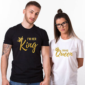 6f1958e8 I'm Her KING His QUEEN T-Shirts Matching Couple Shirts Valentine's ...