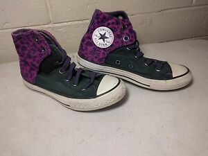 4d27612731af Image is loading Girls-CONVERSE-Sneakers-Shoes-Purple-Pink-Size-1-