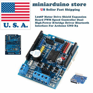 L298P Motor Drive Shield Expansion Board PWM Speed