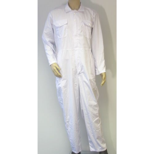 """Special Size, See Detail Below NG5OZa 42/"""" White Zip Front Coverall PolyCotton"""