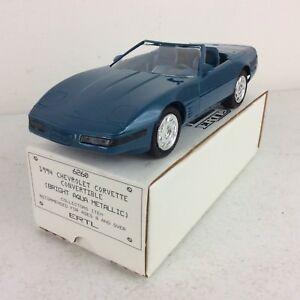 1994-ERTL-AMT-Chevrolet-Corvette-Convertible-Aqua-Metallic-Promo-Model-Car