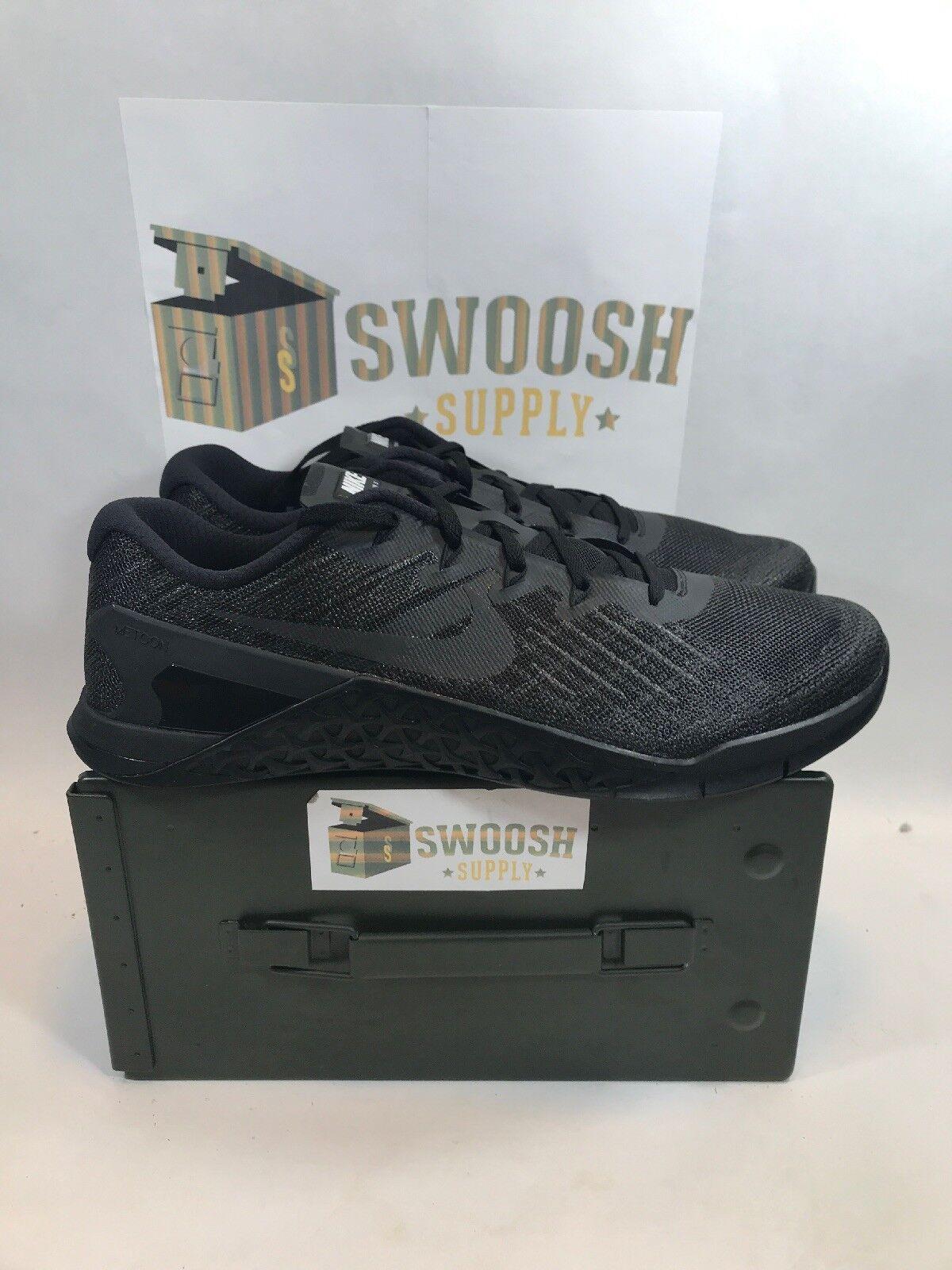 Nike Metcon 3 Mens Training shoes Triple Black  Size 12.5  NEW 852928-002