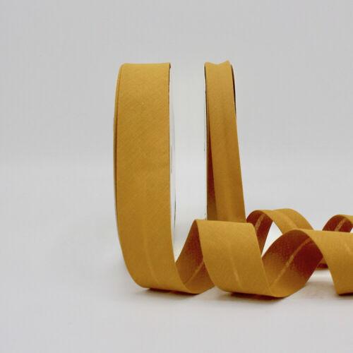 18mm-Ámbar//ocre 439-Doblado Algodón adaptado Cinta de unión de polarización Llano