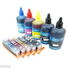 Refillable Cartridge KIT For Canon PGI250 CL251 PIXMA IX6820 MG5522 MG6420 CISS