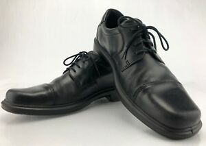 1fff414e01d0 Ecco Dress Shoe Helsinki Cap Toe Black Leather Lace Up Derby Mens 44 ...
