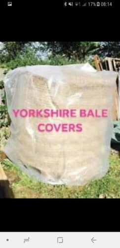 HAY BALE COVER 2 X 4FT  1.2m x 5.3m PLASTIC  ROUND WATERPROOF THICK NETS