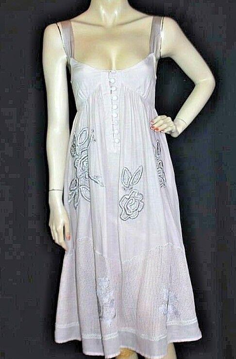 Original SITA MURT Designer Träger Kleid Stickerei dress robe 34 XS neu  NEW