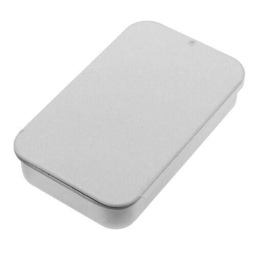 Small Metal Tin With Sliding Lid Sweets Lip Balm Beard /'Wax Cream Pill 8x5x1yu