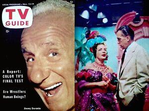 TV-Guide-1953-Jimmy-Durante-33-Carmen-Miranda-Jack-Webb-Dragnet-Ray-Bolger-VTG
