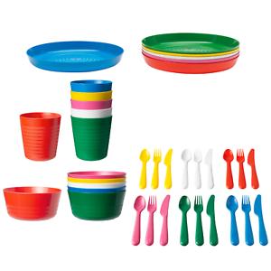 Detalles de Ikea Kalas Niños Tazas Pastel fuentes de plástico Placas Juego De Cubiertos O Individuales ver título original