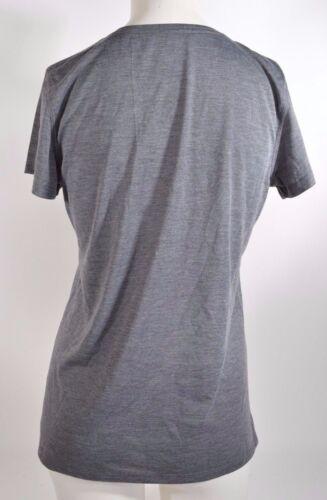NWOT WOMENS DEMARINI V-NECK T-SHIRT $27 M heather grey short sleeve label