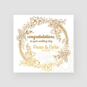 Details About Personalised Handmade Indian Wedding Card